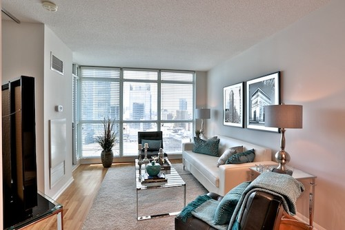Lakeshore Condo-Contemporary Living Room