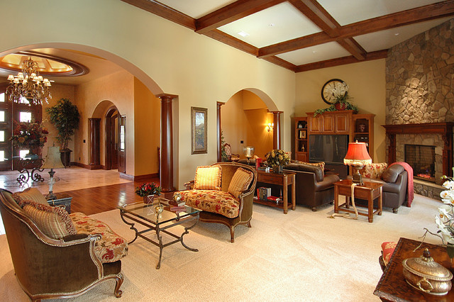 Lakeside Estates Custom mediterranean-living-room