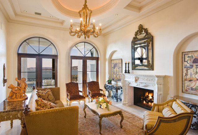 Gray Residence mediterranean-living-room