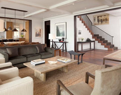 Lakeview House transitional-living-room