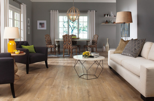 Laminate flooring modern living room other metro Carpet or wooden floor in living room