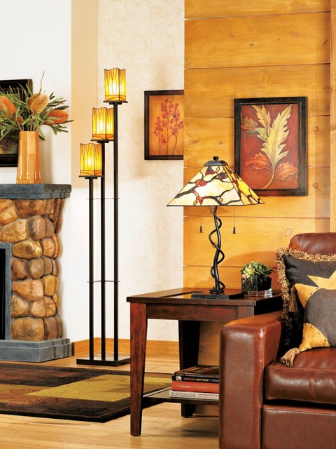 LAMPS PLUS traditional-living-room