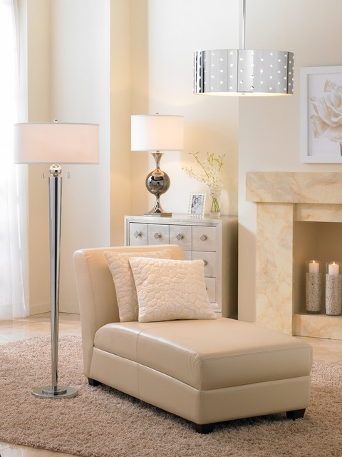LAMPS PLUS contemporary-living-room