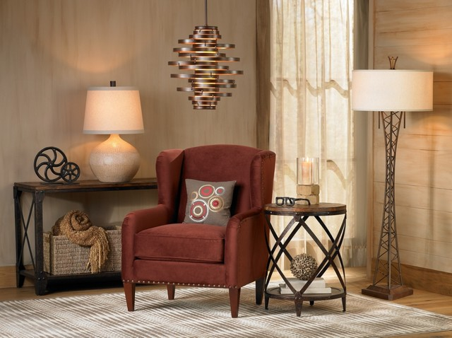 trendy living room photo in los angeles - Living Room Lamps