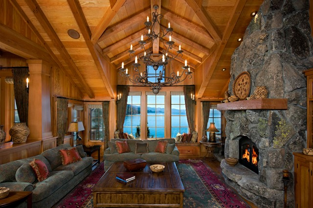 Land's End rustic-living-room