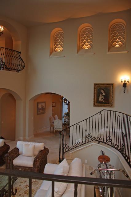 Landmark Builders - Custom Home Builder mediterranean-living-room