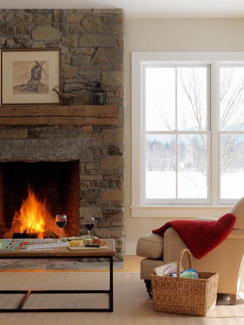 Landmark Meadow Farmhouse traditional-living-room