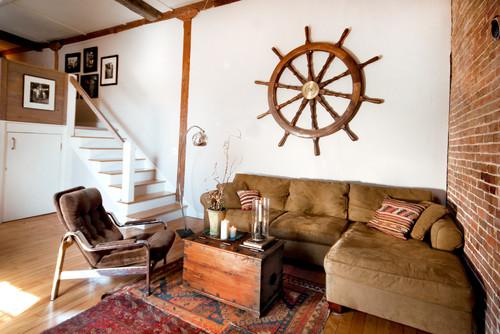 sala familiar con estilo nautico