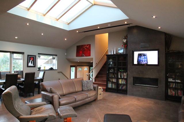 Langley marvel renovation transitional living room - Living room home decor fort langley ...