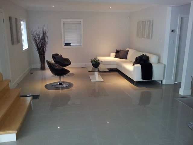 Large format tiles for Tiles in a living room