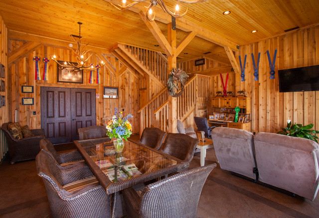 Large Horse Barn - Traditional - Living Room - other metro - by Sand Creek Post & Beam