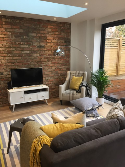 Large Rear Extension In A London Semi Modern Living Room