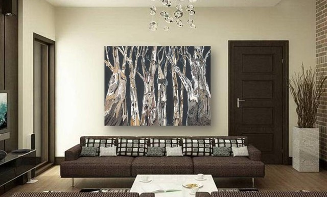 Large Wall Art On Canvas In Modern Contemporary Living