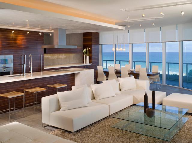 Larissa Sand Studios Miami Beachfront Condo Modern Living Room