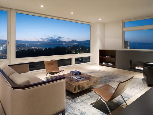 Larkin Street Residence modern living room