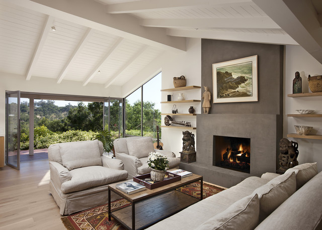Las canoas remodel bifold doors open contemporary living room