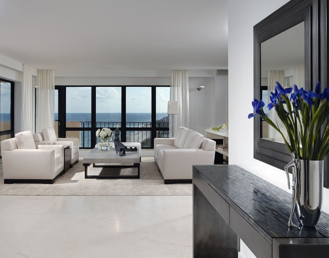 Lauderdale By the Sea Condo contemporary-living-room
