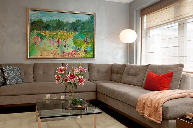 Laura Mannes Design modern-living-room