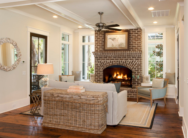 Laurel Low Country Infill Beach Style Living Room