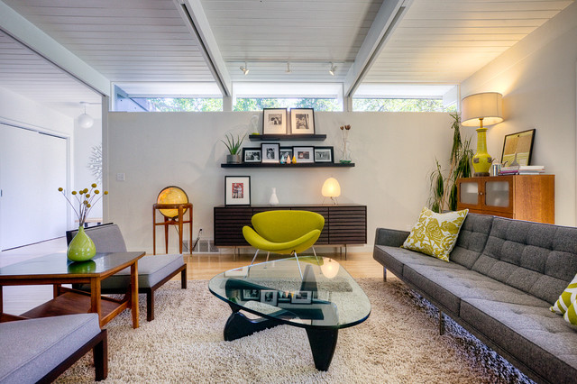 Laurelhurst House Midcentury Living Room Seattle