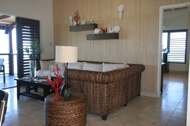 Laurie Bay tropical-living-room