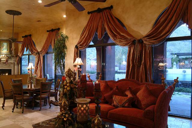 Lavish European traditional-living-room