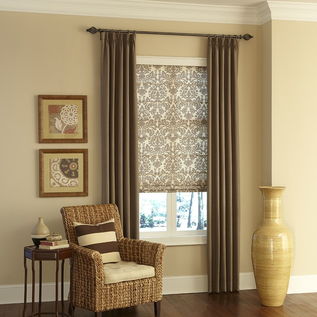 Layered Fabric Window Coverings