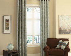 Layered Window Coverings for Maximum Insulation traditional-