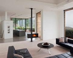 Le Portelet beach-style-living-room