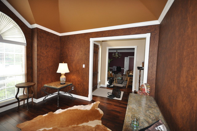 leather faux finish traditional living room other