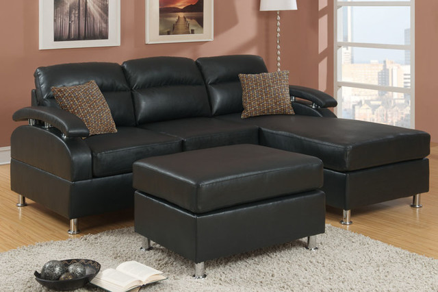 Leather Sectional Sofas modern-living-room