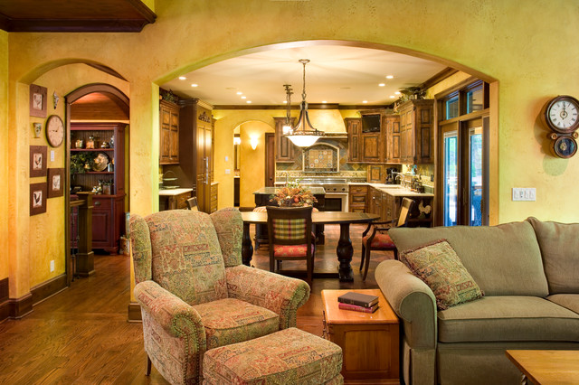 Leawood Kitchen Remodel Traditional Living Room