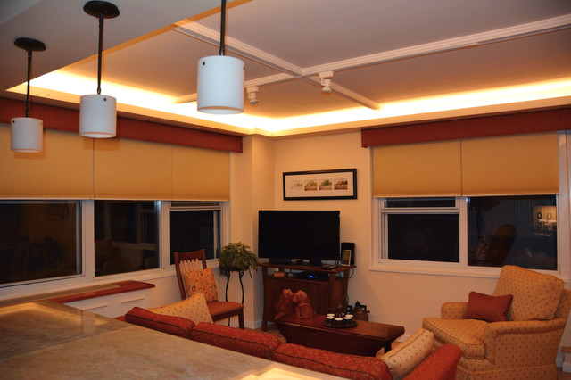 Led Ceiling Cove Lighting Contemporary Living Room