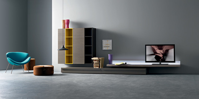 LED TV Unit, Sangiacomo Italy Modern Living Room