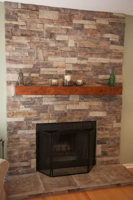 Ledge Stone Fireplaces Album 1 Traditional Living Room