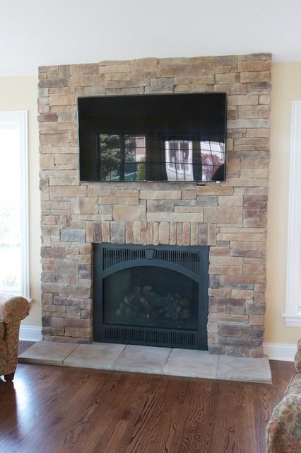 Ledge Stone Fireplaces Album 1 traditional