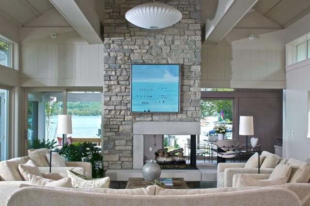 Leland Cottage - Contemporary - Living Room - grand rapids ...