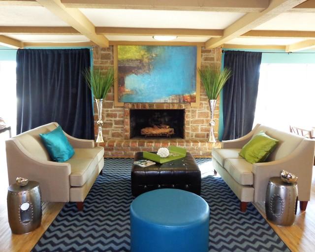 Lenexa Office Contemporary Living Room Kansas City By Stephanie Schulke