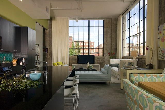 Lengsfield Lofts Contemporary Living Room Part 45