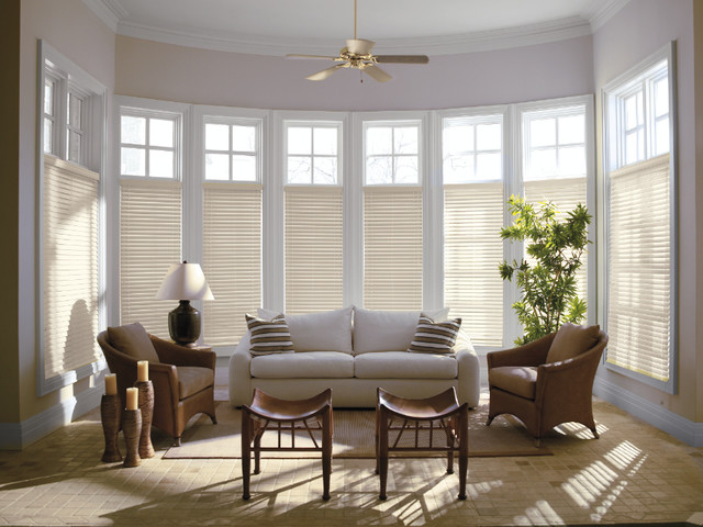 Levolor 2 premium wood blinds from - Living room bay window treatments ...