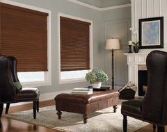"Levolor 2"" Premium Wood Blinds from Blinds.com traditional-living-room"