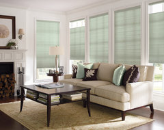 "Levolor Accordia 9/16"" Designer Single Cell from Blinds.com traditional living room"