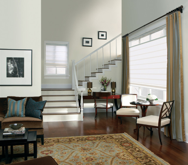 Levolor Classic Roman Shades From Contemporary Living Room O