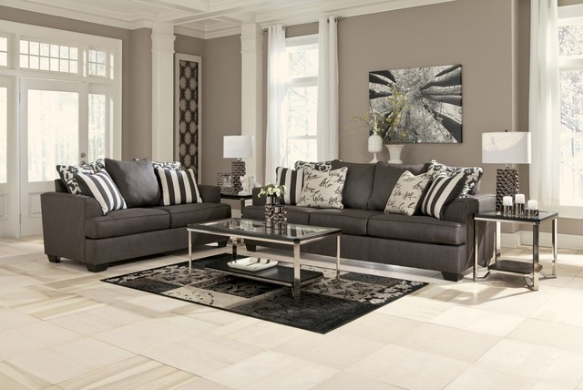 Levon 2 Piece Living Room Set - Contemporary - Living Room ...