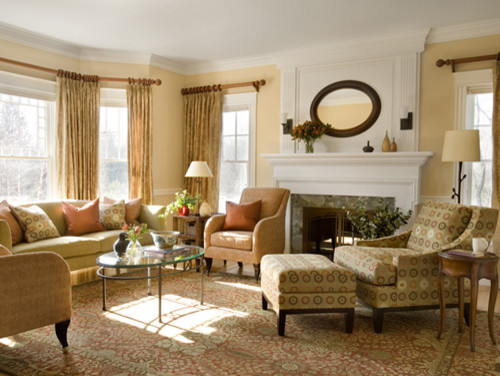 pictures of traditional living rooms on Traditional Living Room Design By Boston Interior Designer Abbeyk