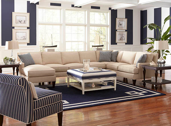 Libby langdon for braxton culler beach style living for Beach style living room furniture