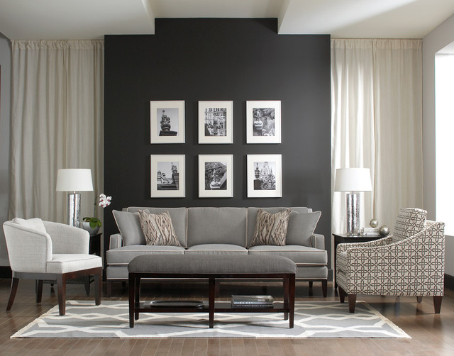 Libby langdon upholstery furniture for braxton culler Modern gray living room