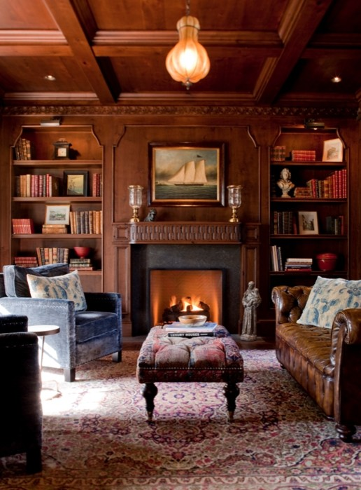 library - Traditional - Living Room - Los Angeles - by ...