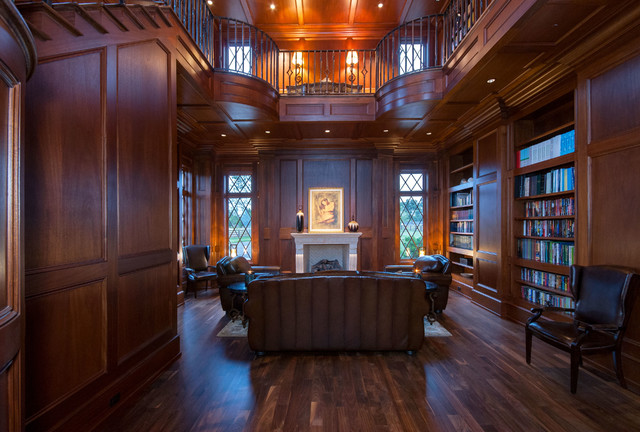 Library traditional living room other metro by for A classic salon greer sc