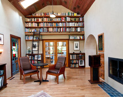 library traditional living room